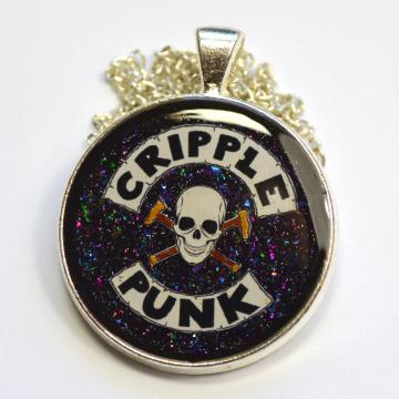 Cripple Punk Disability Spoonie Resin Pendant
