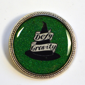 """Wicked the Musical """"Defy Gravity"""" Witch Resin Brooch"""
