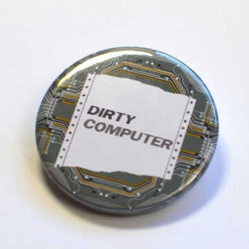 "Janelle Monáe ""Dirty Computer"" Circuit Board Badge"