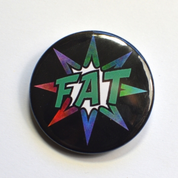 Fat Pride Comic Splash Badge
