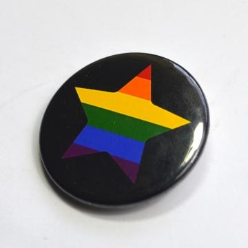 LGBTQIA Galaxy Gay Star Badge