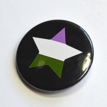 LGBTQIA Galaxy Genderqueer Star Badge