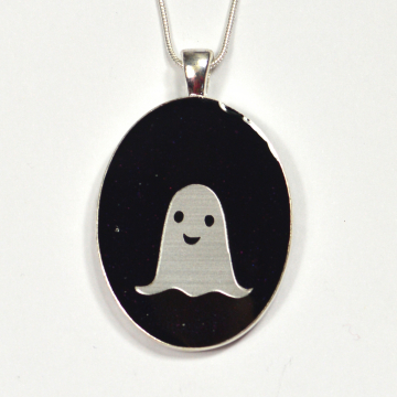 Large Oval Ghost Pendant