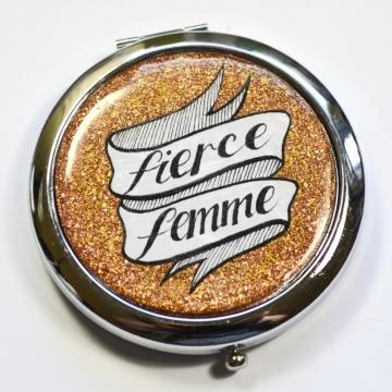 Gold Fierce Femme Mirror Compact