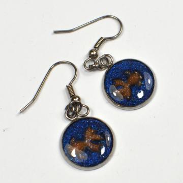 Miniature Goldfish Earrings
