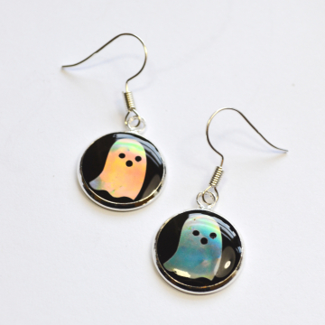 Mini Ghost Holographic Earrings