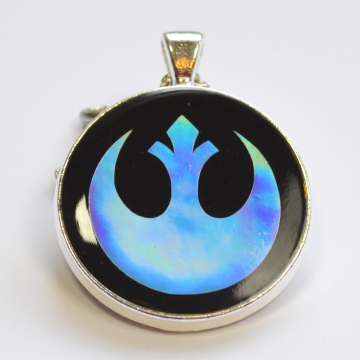 Star Wars Rebel Alliance Sci Fi Holo Holographic Resin Pendant