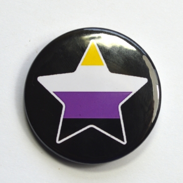LGBTQIA Galaxy Non-Binary Star Badge