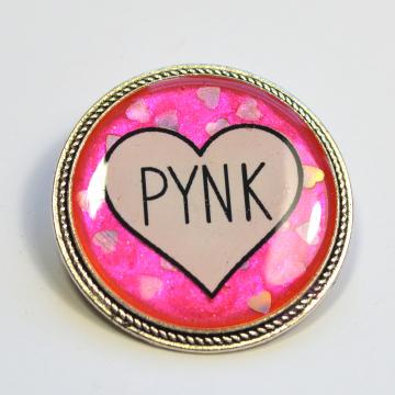 """Janelle Monáe """"Pynk"""" Pink Hearts Resin Brooch"""