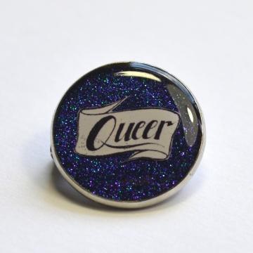 Queer Pride LGBTQIA Resin Lapel Pin
