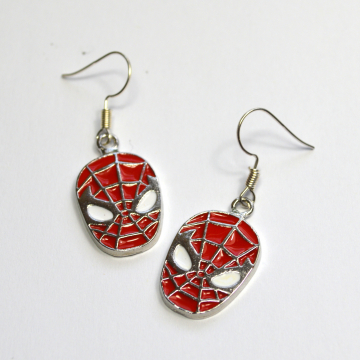 Spiderman Silver and Enamel Earrings