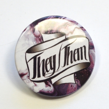 Pronouns They/Them Badge