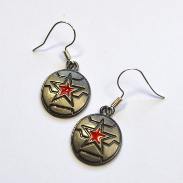 Bucky Barnes Winter Soldier Earrings